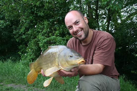 Adam Penning fishing at Par Fishery